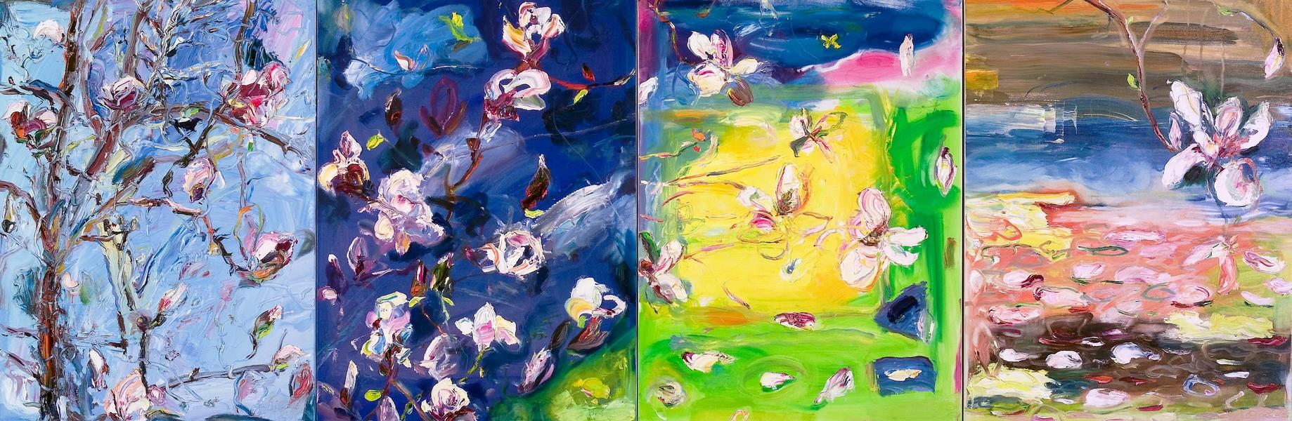 Big Sky Studio Works, and Plein Air Abstractions The Flight of the Magnolia