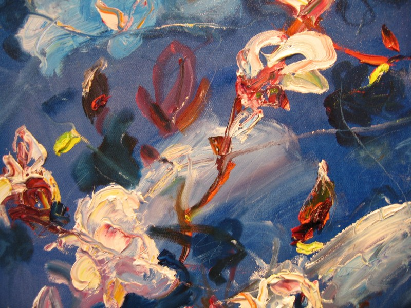Big Sky Studio Works, and Plein Air Abstractions detail from The Flight of the Magnolia