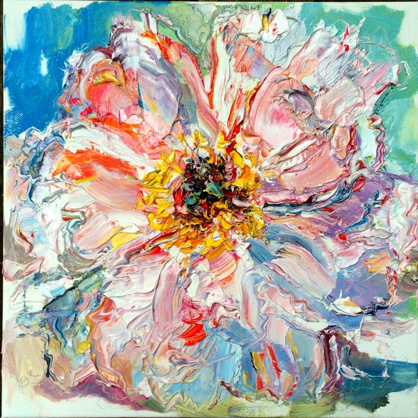 "Big Sky Studio Works, and Plein Air Abstractions ""Homage To A Pink Peony"""