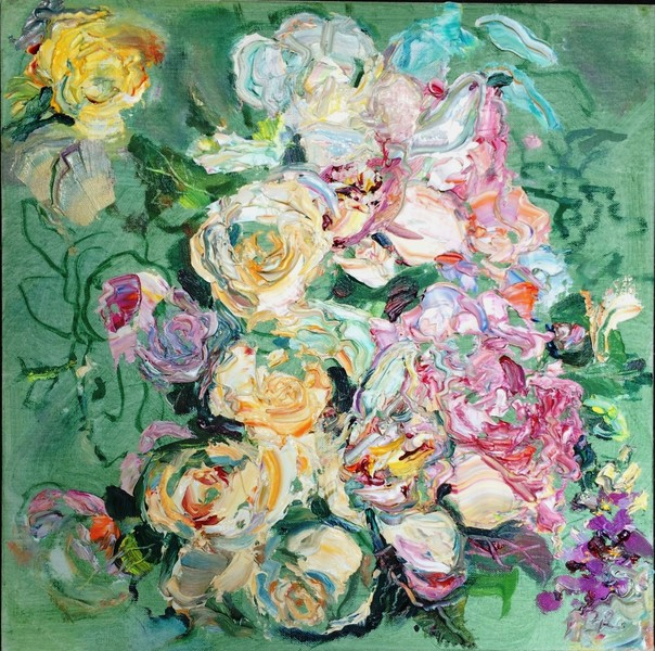 Big Sky Studio Works, and Plein Air Abstractions Unfinished Symphony (Wedding Bouquet)