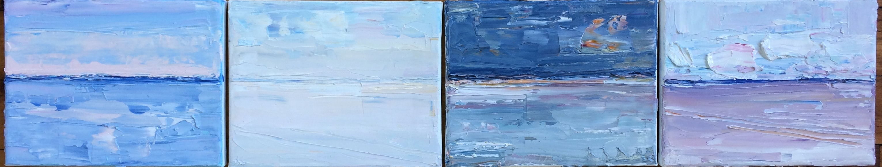 Aggregate Abstractions and The Sea Sky / Sea Series, Cape Ann, MA