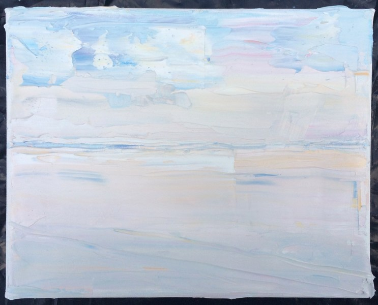 The Sea and Aggregate Abstractions Hushed Sea and Sky, Sunrise, August 10th, 2017