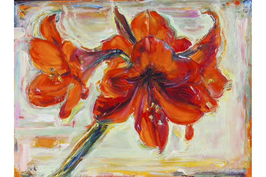 Big Sky Studio Works, and Plein Air Abstractions Amaryllis