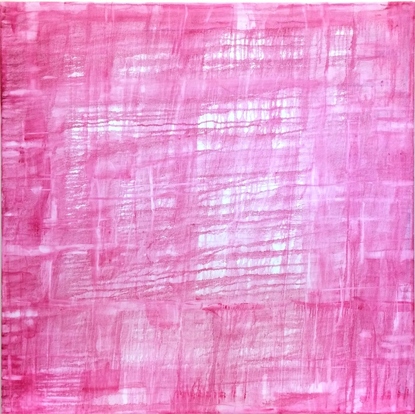 Big Sky Studio Works, and Plein Air Abstractions Open Weave / Pink Sunrise
