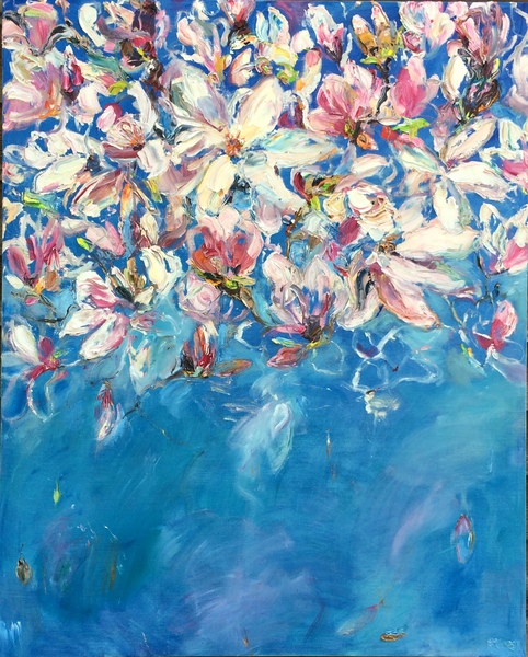 Big Sky Studio Works, and Plein Air Abstractions Magnolia VII (Letting Go)
