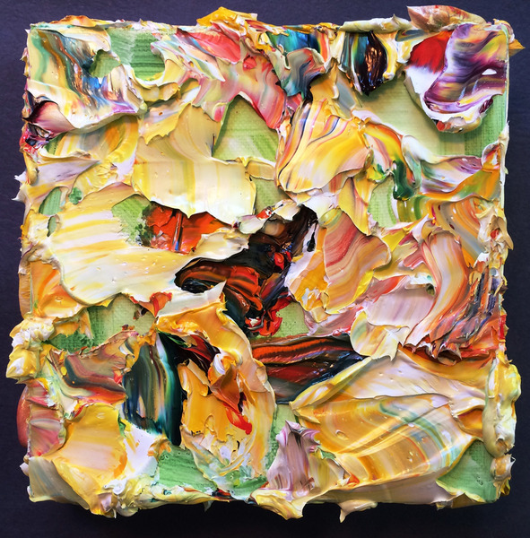 Garden of Delights / 3D Paintings Yellow Peony (Coming Undone)