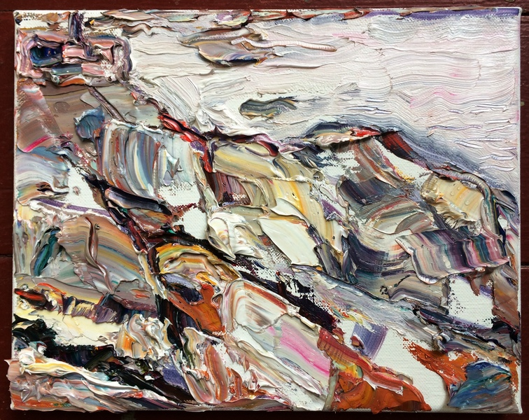 Aggregate Abstractions and The Sea Rocks at Lanesville by a Silver Sea, Cape Ann, MA