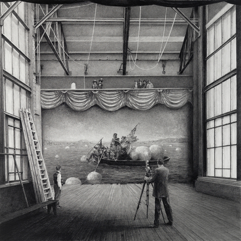 BIG PAPER AIRPLANE - ETHAN MURROW American Ego graphite on paper