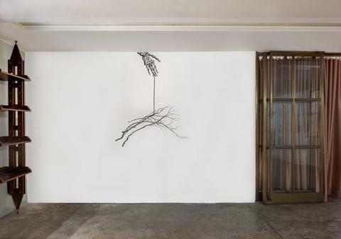 BIG PAPER AIRPLANE - ETHAN MURROW HONG KONG acrylic pen on wall - site specific