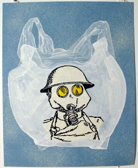 Bag Drawings Gas Mask Bag