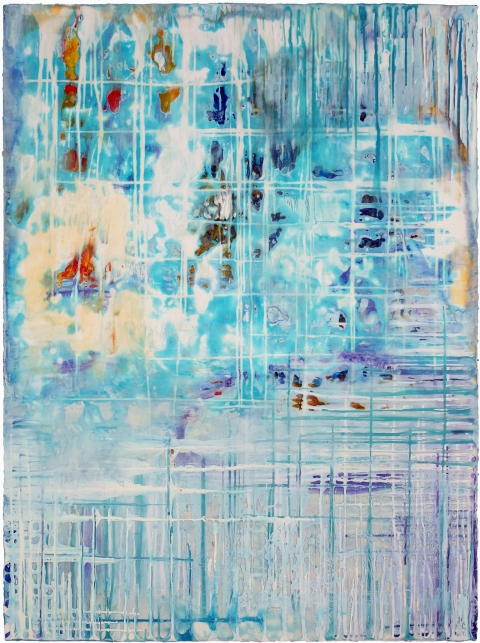 BINNIE BIRSTEIN what lies beneath encaustic on birch panel