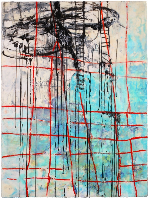 BINNIE BIRSTEIN what lies beneath encaustic, india ink, graphite on birch panel