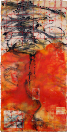 BINNIE BIRSTEIN what lies beneath encaustic, india ink on birch panel
