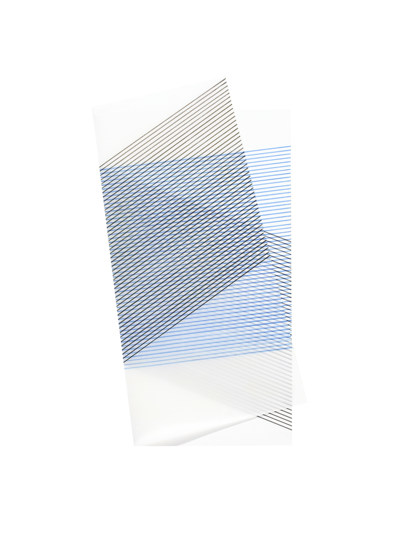Blinn Jacobs Folded Square Drawings #1 Ink on Mylar