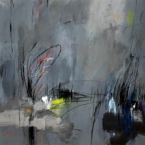 Bluestone Fine Art Gallery HAMPTONS VIRTUAL EXHIBITION Acrylic & Graphite on Mylar on Board