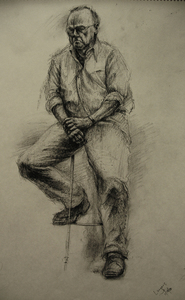 Bob Langnas Some Observational Work charcoal
