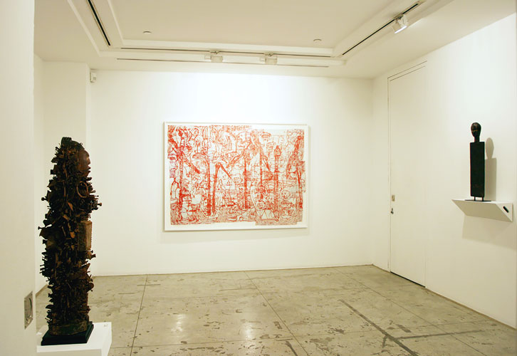 "Installation View: ""The Essence of Things: Bo Joseph with African Art,"" Jason McCoy Inc., 2008"