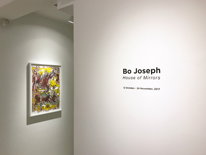 "Installation View: ""Bo Joseph: House of Mirrors,"" Lee Eugean Gallery, 2017"