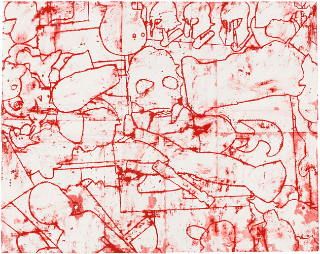 Works on Paper, 2015-2016 Disunified Theory: Red Shift