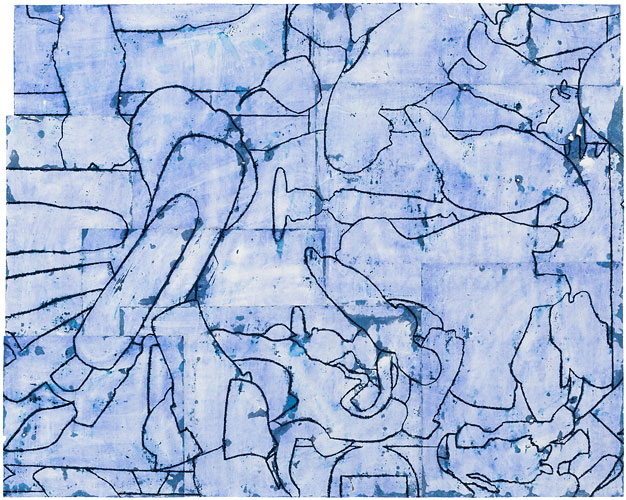 Works on Paper, 2015-2016 Disunified Theory: Blue Shift