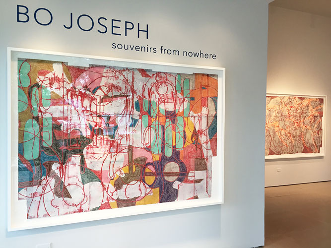 "Bo Joseph: Souvenirs from Nowhere, 2015 Installation View: ""Bo Joseph: Souvenirs from Nowhere,"" McClain Gallery, 2015"