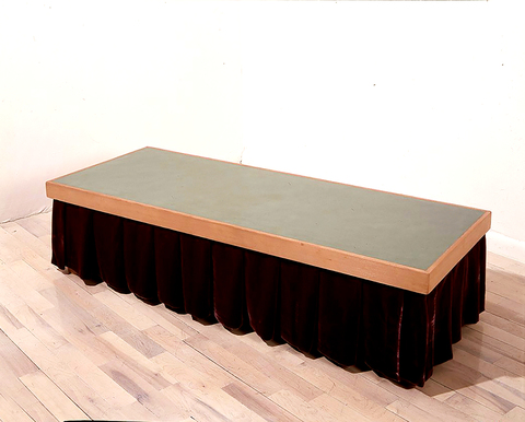 Older Work Coffee Table With Shirt