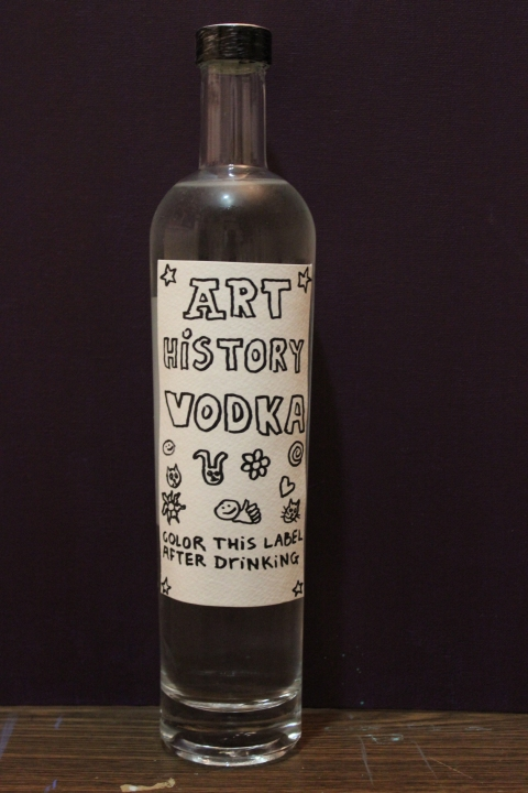 "HAPPY ART HISTORY!  ""ART HISTORY VODKA""."