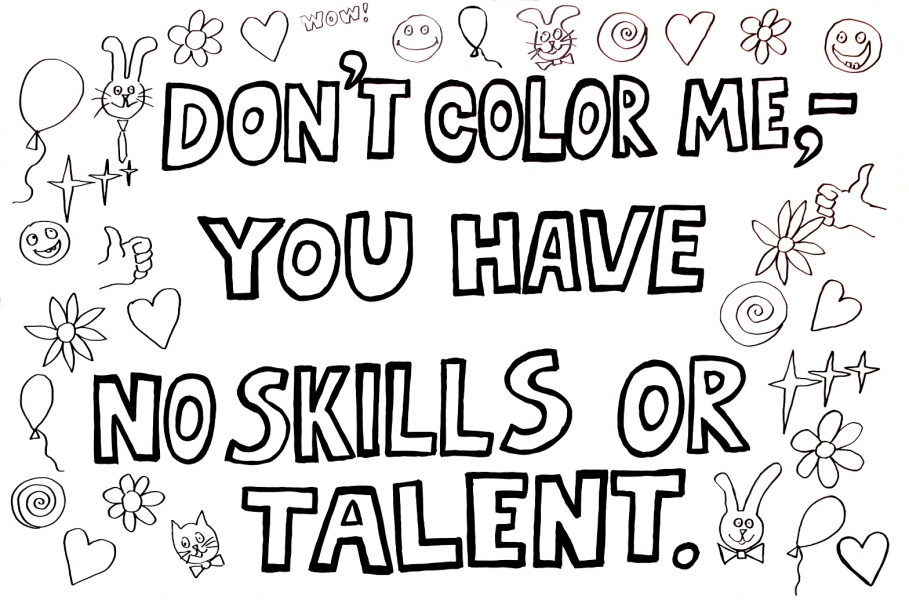 "HAPPY ART HISTORY!  ""DON'T COLOR ME"". COLORING PAGE (TALKING CANVASES)"