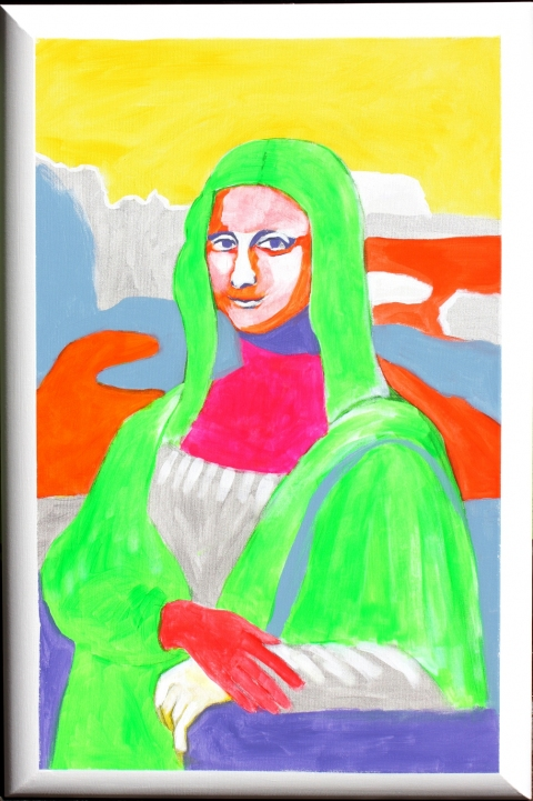 "HAPPY ART HISTORY!  ""OVEREXPOSED LISA."" (TRILLIONS OF GAZES AND PHOTO CAMERA'S FLASHES )"
