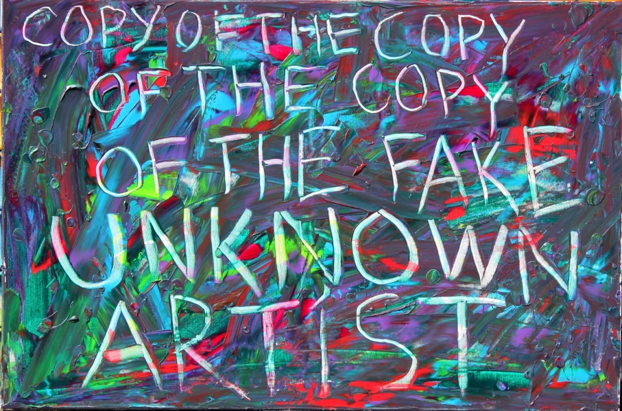 "HAPPY ART HISTORY!  ""COPY OF THE COPY OF THE COPY OF THE FAKE UNKNOWN ARTIST""."