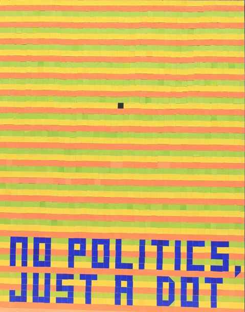 "I  SURVIVED INFORMATION "" NO POLITICS, JUST A DOT""."