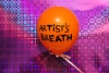 HAPPY ART HISTORY!  OIL PAINT ON AIR BALOON, ARTIST'S BREATH.""