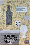 I  SURVIVED INFORMATION Paper  and Vinyl Collage on Wooden Board on Wooden Frame.