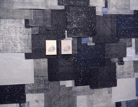 Brian Hitselberger Projects Relief and intaglio prints on kozo, graphite drawings on found surfaces
