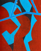 Work Acrylic on Unstretched Canvas