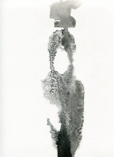 BRITTA KATHMEYER Ink, 2011-13 Ink and Salt on Paper
