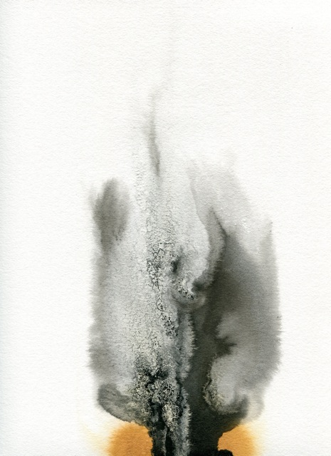 BRITTA KATHMEYER Ink, 2011-13 Ink, Watercolor and Salt on Paper