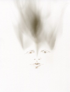 BRITTA KATHMEYER Smoke, 2012-13 Match on Smoked Paper