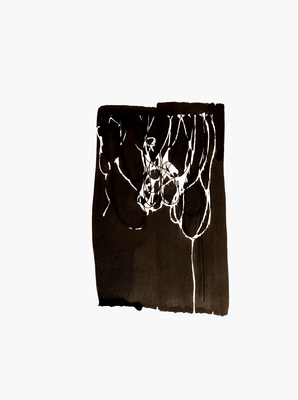 BRITTA KATHMEYER Groundswell, 2016-17 Sumi Ink and Thread