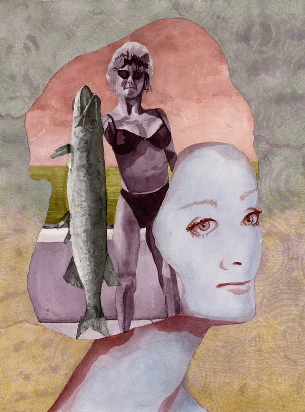 BRITTA URNESS draw/paint/collage watercolor