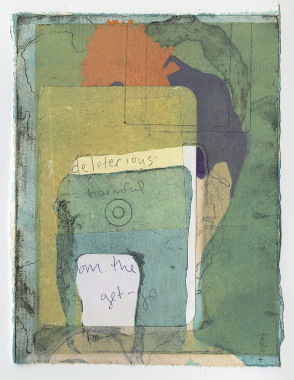 BRITTA URNESS draw/paint/collage collagraph, collage, chine-collé