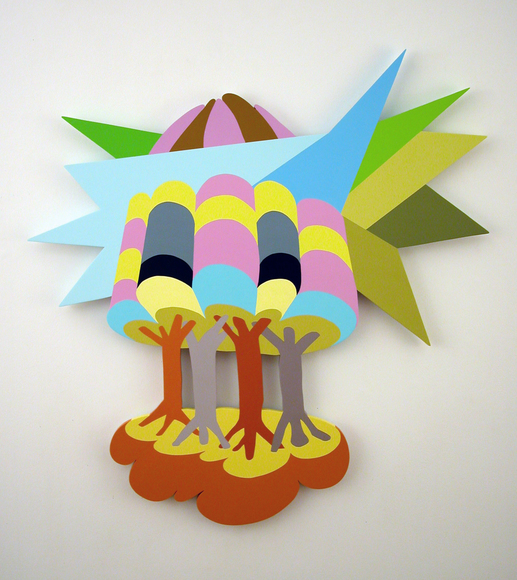 Bruce Brosnan 2012 - 2010 Acrylic paint on MDF