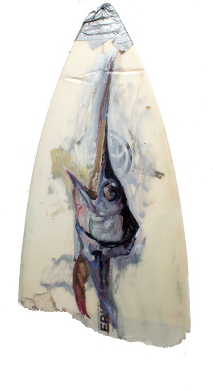 BRUCE LIEBERMAN FISH HEAD ICONS oil