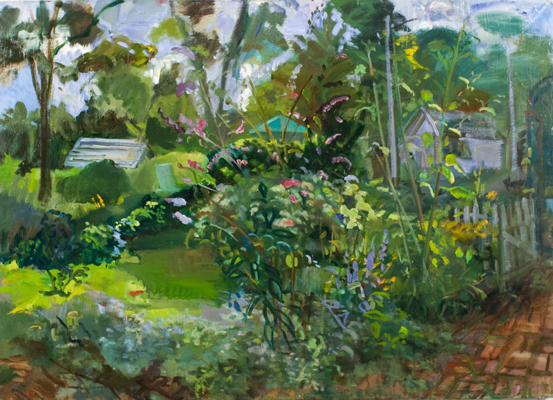 BRUCE LIEBERMAN MEAN GREEN SCENES 2015- 2017 oil
