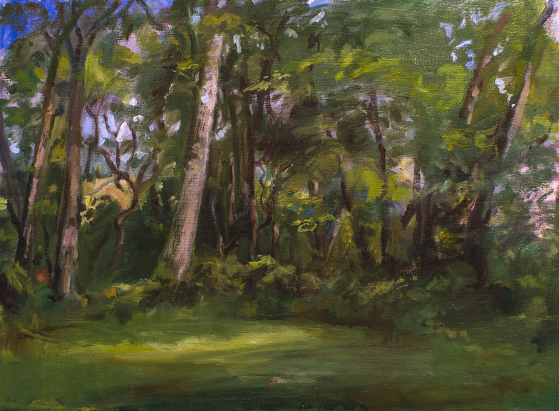 BRUCE LIEBERMAN MEAN GREEN SCENES 2015- 2017 oil on canvas