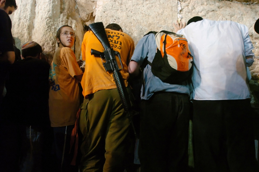 Gaza Strip and Israel Jews Pray Against The Israeli Government's Planned Evacuation Of Settlements At The Western Wall