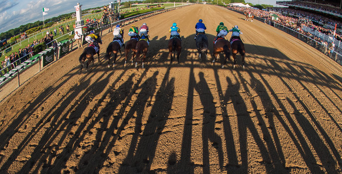 Start of the 2015 Belmont Stakes