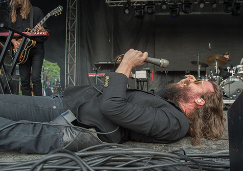 Father John Misty performs at the Governors Ball Music Festival