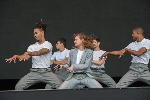 Christine and the Queens perform at the Governors Ball Music Festival