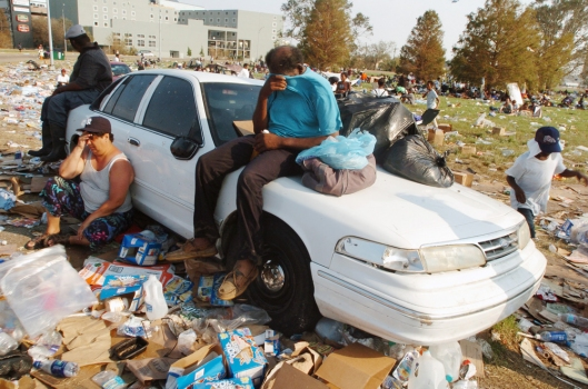 Aftermath Of Hurricane Katrina
